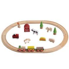 EverEarth Evereart leseni vlak z motivom kmetije