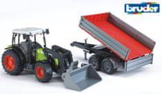 Bruder traktor Class Nectis 267 F z nakladalnikom in priklopnikom