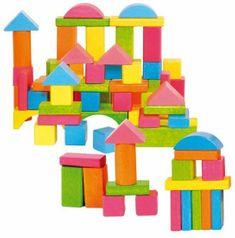 Woody kocke u boji, pastelne, 75 komada