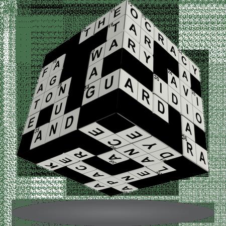 V-Cube 3x3 versenykocka, Keresztrejtvény - Magyar nyelvű