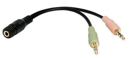 LogiLink avdio kabel 3,5 mm jack, Ž-M, 0,15 m