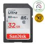 2 - SanDisk SDHC 32GB (UHS-1) Ultra 80MB/s (SDSDUNC-032G-GN6IN)