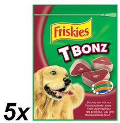 Friskies poslastica za žvakanje T-Bonz, 5 x 150g