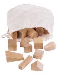 Montessori Tajomný sáčok s geometrickými telesami