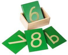 Montessori Érdes felületű számok dobozban