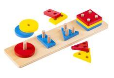 Montessori kolorowe, geometryczne kształty