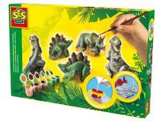 SES Sádrový trojkomplet - dinosauři