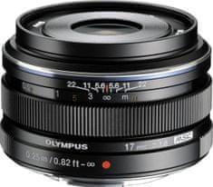 Olympus Objektiv M. Zuiko Digital EW-M1718 17 mm 1:1,8, crni