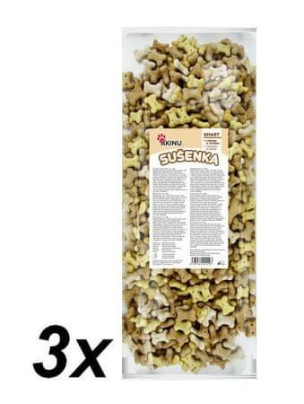 Akinu Ciasteczka - kosteczki 2,2 cm 3x1000g