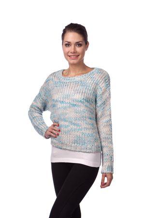 Brave Soul ženski pulover Stardust XS modra