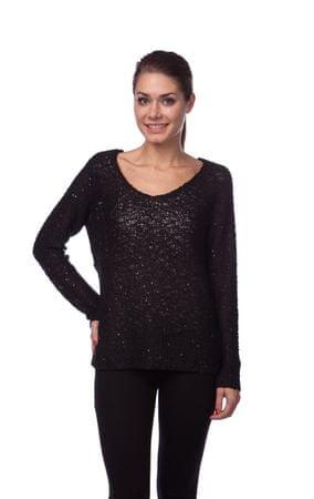 Brave Soul ženski pulover Listen S črna