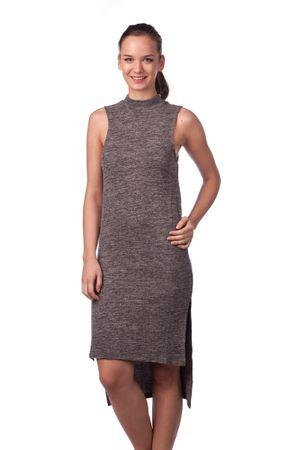 Brave Soul dámské šaty Hazeline S tmavě šedá