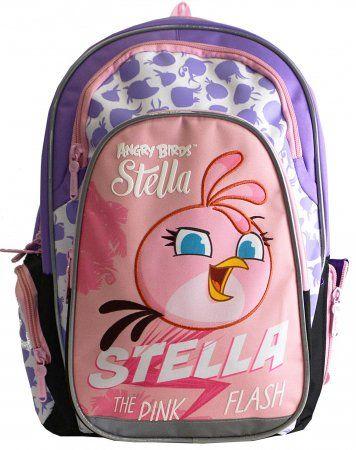 Karton P+P Anatomiczny plecak Angry Birds różowy