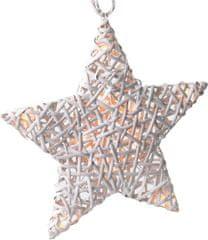 Solight gwiazda rattanowa 10 LED biały