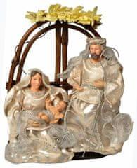 EverGreen Svatá rodina, proutí, výška 25cm, stříbrná