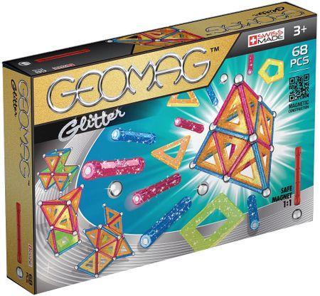 Geomag Glitter Mágneses építőkészlet, 68 db (20GMG00533)