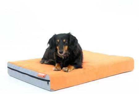 Aminela dvostranska vzmetnica za živali, 80x60x10, sivo/oranzna
