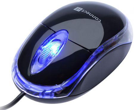 Connect IT CI-129 optická myš podsvícená, černá