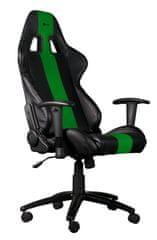 C-Tech gamerski stol Phobos, črno-zelen (GCH-01G)