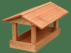 Krmítko drevené - Veľké hnedé
