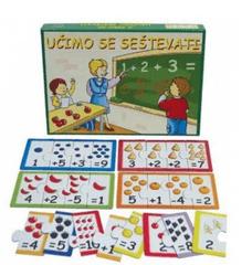 Kocka igra Učimo se seštevati