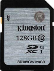 Kingston spominska kartica 128GB SDXC CL10 UHS-I, 45MB/s