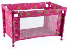 Teddies Postýlka pro panenky, růžová