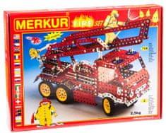 Merkur Tűzoltóautó fém építőkészlet, 708 db