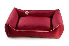 Argi pasja postelja, rdeča