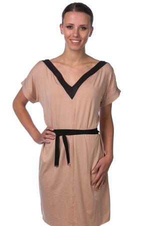 64363bf5503d Diesel dámské šaty s výstřihem do V D-Orion-A M béžová - Alternativy ...