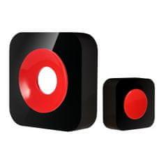 Optex 990225 Vezeték nélküli csengő, Fekete/Piros