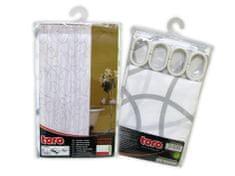 TORO Sprchový záves 180X180CM, biela so šedou