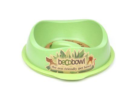 Beco Bowl Slow Feed Large Etetőtál, 1,25 l, Zöld