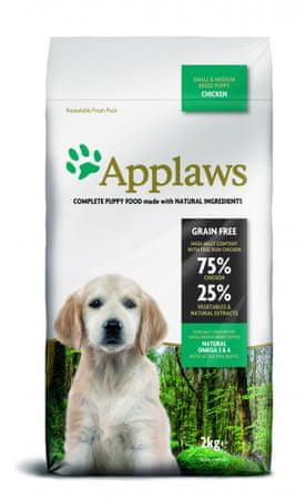 Applaws Dog Puppy Small & Medium Breed Chicken hrana za štence, 2 kg