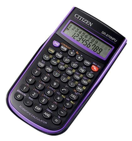 Citizen kalkulator SR-270NPU, vijoličen