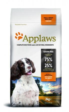 Applaws hrana za odrasle pse majhnih in srednjih pasem, piščanec, 2 kg