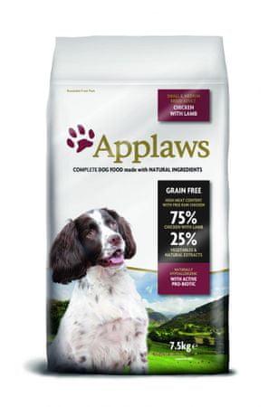 Applaws Dog Adult Small & Medium Breed Chicken & Lamb kutyatáp - 7,5kg