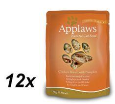 Applaws saszetki dla kota Chicken & Pumpkin 12x70g