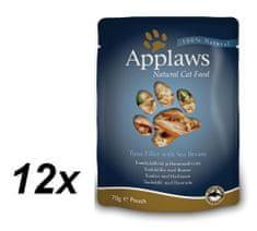 Applaws mokra hrana za mačke, tuna i orada, 12 x 70g