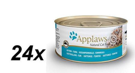 Applaws mokra karma dla kociąt z tuńczykiem 24x70g