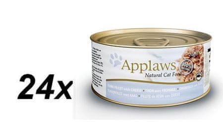 Applaws Macskaeledel, Tonhal & Sajt, 24 x 70 g