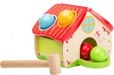 Johntoy Drewniany domek z kulkami i młotkiem