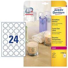 Avery Zweckform etikete L7780-25 40 mm, prozirne, 25 listova
