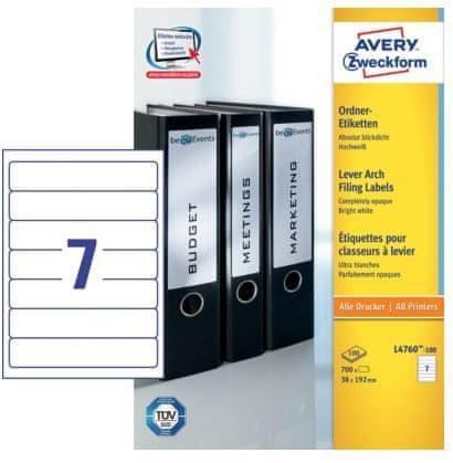 Avery Zweckform etikete L4760-100 192 X 38, 100 listova