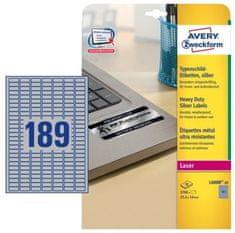 Avery Zweckform etikete L6008-20, 25.4 x 10 mm, 3780 komada, metalizirani poliester