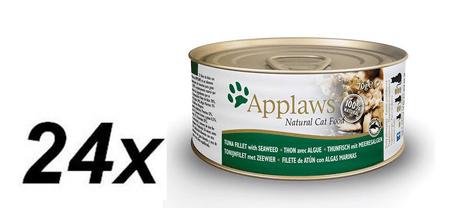 Applaws mokra hrana za mačke, tuna in morske alge, 2 x 70 g