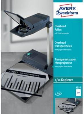 Avery Zweckform Prosojnice 3555 za fotokopirne stroje 100/1