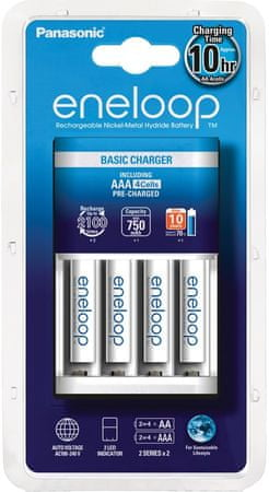 Panasonic Basic Charger 4x AAA 750 mAh