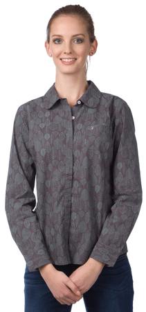 Brakeburn dámská vzorovaná košile M šedá