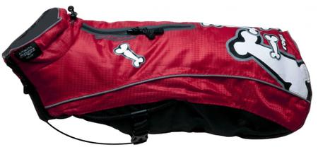 Rogz Skinz plašček za pse SnowSkin Red Bones, 22 cm